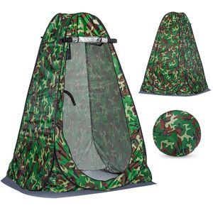 MECO Camping Toilettenzelt Duschzelt Pop Up Umkleidezelt Privatsphäre Toilette Umkleidekabine Lagerzelt Mobile Outdoor WC Zelt