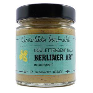 """Klostefelder Senfmühle Bouletten-Senf nach """"Berliner Art"""" 190ml"""