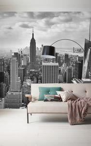 "Komar Digitaldruck Vliestapete ""NYC Black and White"" 300 x 250 cm, schwarz/weiß, 323-DV3"