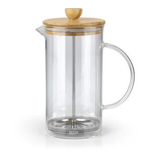 BEEM COFFEE French press Kaffeebereiter Kaffeepresse 1 l Glas 8 Tassen Bambus