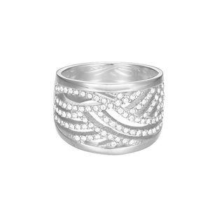 Esprit Damen Ring Edelstahl Silber JW50236 Zirkonia ESRG02688A1, Ringgröße:60 (19.1 mm Ø)