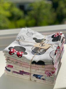 10 Stück LUX doppelgewebt - Mädchen Stoffwindeln Stoffwindel Mullwindeln Spucktuch Spucktücher 80x80cm bunt aus 100% Baumwolle