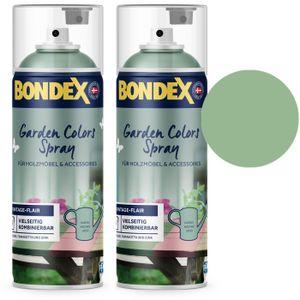 Bondex Garden Colors Spray Holzfarbe Vintage, Harmonisches Grün Sparpack 2x400ml