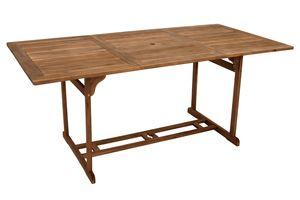 DEGAMO Gartentisch Esstisch Holztisch KORFU rechteckig, 90x180cm, Holz Akazie geölt