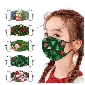5 Stück Erwachsene Weihnachten Gedruckt Mundschutz mit Motiv Waschbar Gesichtsschutz Mund-Nasen-Schutz Staubschutz Wiederverwendbar Atmungsaktiv Draussen für Christmas