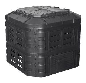 Komposter aus Kunststoff 600L, Schnellkomposter mit Belüftungssystem, modular steckbar, für ideale Zersetzung 600L