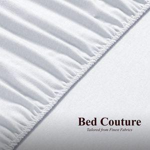 Bed Couture- Flannel Fleece (2er Pack) Kinder Spannbettlaken 100% Baumwolle Biber-Flanell - 60x120 cm Weiss