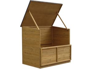"Gartentruhe aus Holz ""Caja"" - 137 x 91 x 121 cm - Braun"