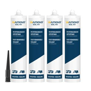 Dichtstoff SEAL wamovo®441 | 1240 ml | abtupfbar | Schwarz | Dichtmasse