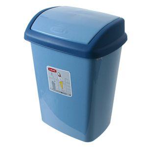 Curver Abfallbehälter Müllbehälter mit Schwingdeckel 10 L blau