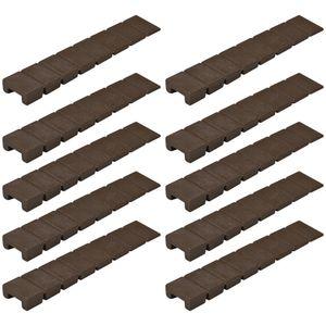10x Möbelkeile montagekeile unterlegkeile justierkeil 1 bis 8mm braun kunststoff