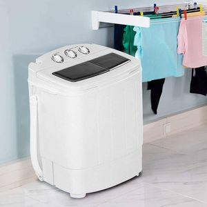Mini Waschmaschine Wäschetrockner Waschautomat mit Schleuder Timer Kombination 240W Weiß