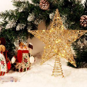 Melario LED Stern für Weihnachtsbaumspitze Tannenbaumspitze Christbaumspitze Licht Lampe