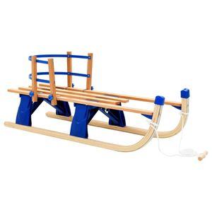 BEST HOME- Outdoor Klappschlitten mit Rückenlehne Holz 110 cm  Sportartikel,Hochwertiger,Wintersport,-Aktivitäten,Schlitten💜6000