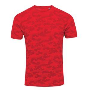 AWDis Herren Camouflage T-Shirt PC2978 (L) (Rot Camo)