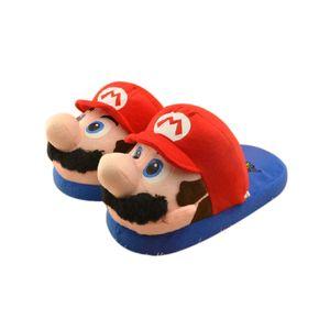 Hausschuhe Super Mario Plüsch Hausschuhe Mario Luigi Cartoon Indoor Home Warme Schuhe