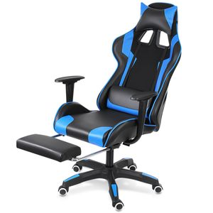 Geepro -90 °  155 ° liegendes Design PC Racing Game Stuhl Gaming Stuhl Bär 15kg -Blau