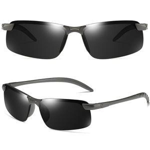 Herren Photochrome Polarisiert Sonnenbrille Fahren Brillen Angeln UV400 Schwarz Farbe :8
