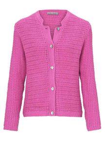 Ashley Brooke Damen Designer-Grobstrickjacke, pink, Größe:40