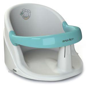 BABYLON Anatomischer Baby Badewannensitz Nemo. Badesitz Baby mit Anti-Rutsch Saugnäpfe von 6 Monaten. Badewannen Zubehör für Mädchen und Jungen, Babywanneneinsatz Weiss