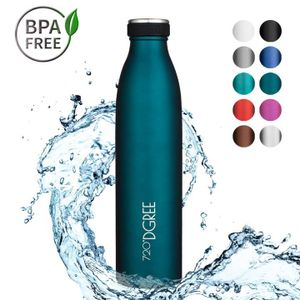 720°DGREE Trinkflasche Edelstahl milkyBottle 750ml, 720-Farbe:smaragd green