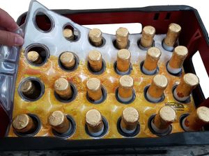 Premium Bierkastenkühler Bierkistenkühler Flaschenkühler Bierkasten Kühler Bierkühler Getränkekühler für Camping und Garten (24'er Kiste, Bieroptik)