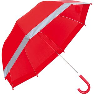 Small Foot Regenschirm mit Reflektorstreifen, rot, rot (1 Stück)
