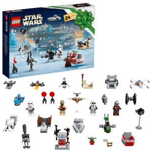 LEGO 75307 Star Wars Adventskalender 2021 Bausatz Mandalorianer Weihnachtsgeschenke für Kinder ab 6 mit Baby Yoda Minifigur