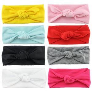 8 stk Stirnband mehrfarbig und blumenreich elastisch Haarband Fliege Schleife für Kinder Baby Mädchen