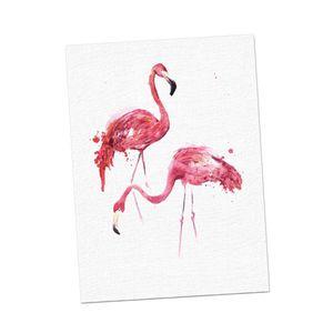 Flamingo Wandkunst, Die Den Bild Druck auf Leinwand Buntes Bild für Hauptdekor Dekorations Geschenk Malt wie beschrieben Flamingo S