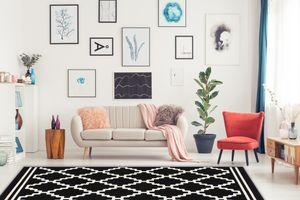 kayoom Designerteppich Lina 200 Schwarz / Elfenbein (80 x 150 cm)