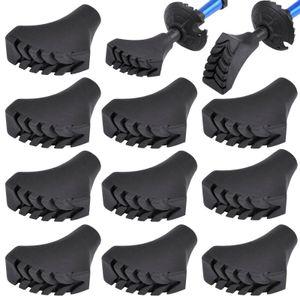 Yaheetech 10 x Walking Asphaltpads Gummipuffer Ersatzfüße für Trekking Stöcke