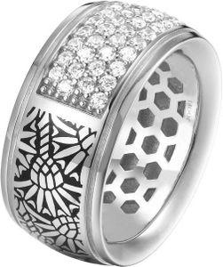 Joop! Jewelry Logo Signature JPRG90743A Damenring Mit Zirkonen, Ringgröße:55 / 7 / M