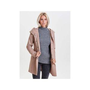 Only Damen-Woll-Mantel onlSedona Light Coat Otw 15142911, Größe:M, Farbe:Rosa