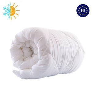 Bettdecke 135x200 Ganzjahresdecke ganzjährige Steppdecke Schlafdecke Steppbettdecke für Allergiker hypoallergen Microfaser 135 x 200 weiß