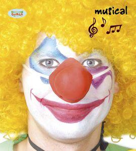 orange quietschende Clown Nase für Erwachsene