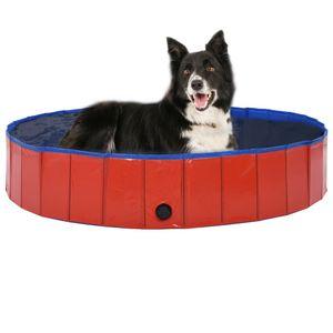 Hundepool Faltbar Rot 160 x 30 cm PVC