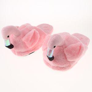 1 Paar Flamingo Plüsch Hausschuhe Rosa Halbe Hausschuhe