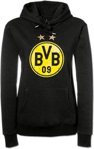 Fan-Shop BVB Borussia Dortmund Logo Hoodie Schwarz - Damen, Größe:S