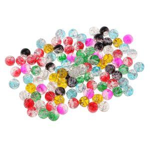 100 Stücke Kristall Glasperlen Spacer Perlen Anhänger für Kinder DIY Armband Halskette Zum Auffädeln
