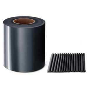 MIDORI® PVC Sichtschutzstreifen 35 m x 19 cm Doppelstabmatten Zaunfolie Zaunblende Clips Anthrazit