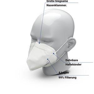 10x FFP3 Maske  Atemschutzmaske  Staubschutzmaske Atemmaske Staubmaske 10 Stück verpackt im PE-Beutel