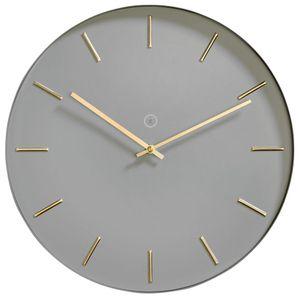 Sompex Clocks Wanduhr Helsinki, offene Wanduhr, Metall, vollkommen geräuschloses Quarzuhrwerk, Metall,  Ø 40cm x 3.5cm, Farbe:grau