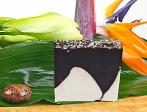 Naturseife Cocos mit echter Schokolade 100g, Handseife vegan, natürlich basische Seife