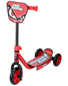 No Fear Kids Tretroller mit 3 Rädern - 3+ - Max. 20 Kilo - Rot