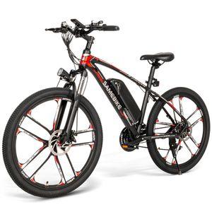 SAMEBIKE MY-SM26 26 Zoll E-bike E-MTB Mountainbike E-Trekkingrad Elektrofahrrad Elektrisches Fahrrad Electric Bike Motor Citybike Elektro City Fahrrad Elektro Faltrad Electric Bike E-Bike Elektrofahrräder  - Schwarz