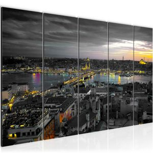 Istanbul Türkei BILD 200x80 cm − FOTOGRAFIE AUF VLIES LEINWANDBILD XXL DEKORATION WANDBILDER MODERN KUNSTDRUCK MEHRTEILIG 603155b