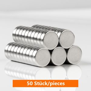 ECENCE Neodym Magnete 50 Stck. - runde Mini-Magnete - Dauermagnete N35 - hochwertige Scheibenmagnete