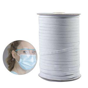 3mm 120yd Gummiband Gummikordel Gummilitze Wäschegummi - Weiß