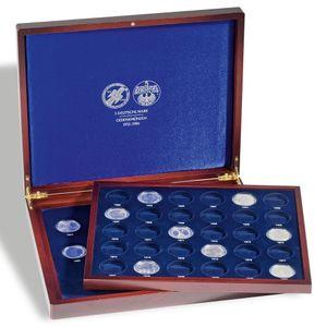 Leuchtturm Münzkassette VOLTERRA DUO für 5-DM Münzen Kapseln Sammelbox Schatulle